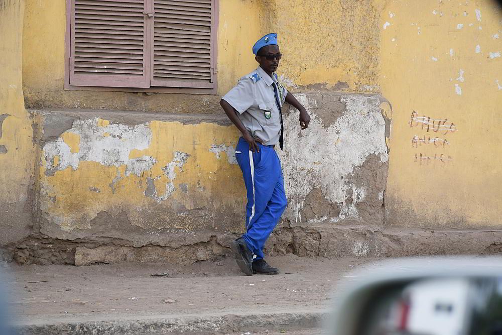 Полицай в Джибути